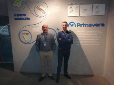 Juanjo Martínez y Agustín Penalva, formándose en Primavera