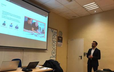 Charla de Jesús Arroyo durante la jornada sobre la Industria 4.0 y el papel de las empresas instaladoras